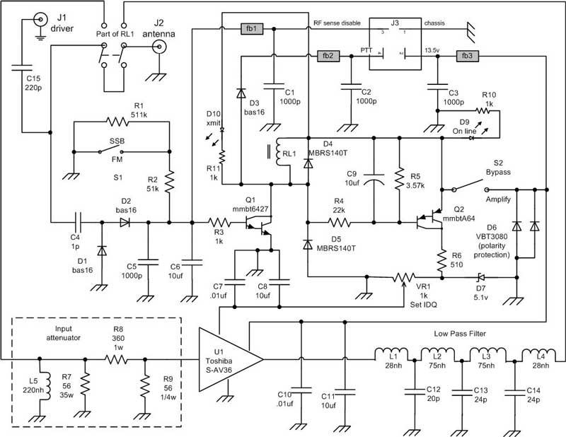 vhf antenna wiring diagram 2 meter 80w all mode amplifier  2 meter 80w all mode amplifier